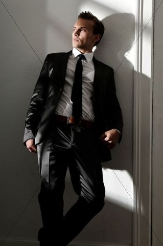 Fashion image, young man wearing a suit