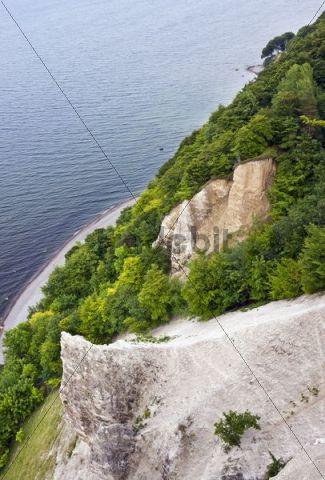 Chalk cliffs, view from the viewing platform on the Victoria Sicht, Jasmund National Park, Ruegen Island, Mecklenburg-Western Pomerania, Germany, Europe