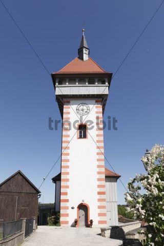 Gangolfsturm tower, Hollfeld, Little Switzerland, Upper Franconia, Franconia, Bavaria, Germany, Europe, PublicGround
