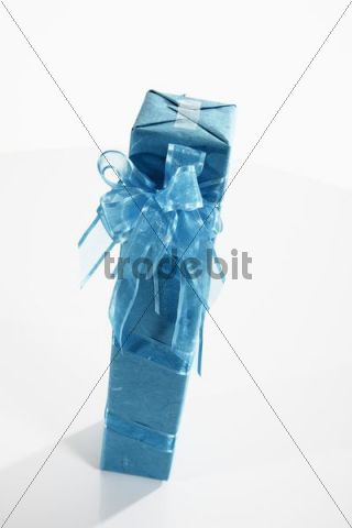 Gift with a turquoise ribbon