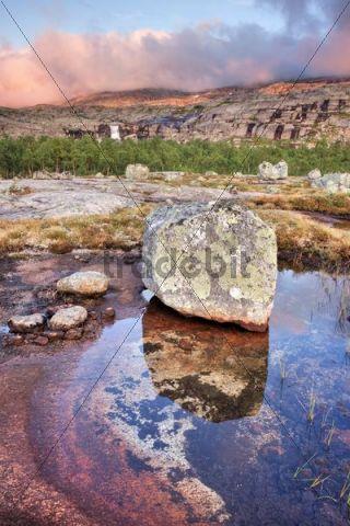 Rocky landscape in Rago National Park, Nordland county, Norway, Scandinavia, Europe