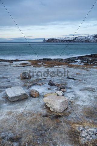 Nordfjord, Kvaløya, Tromsø, Tromsoe, Norway, Europe