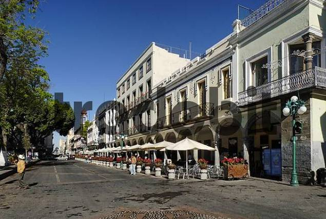 zocalo in the old town or historic center of Puebla, Mexico