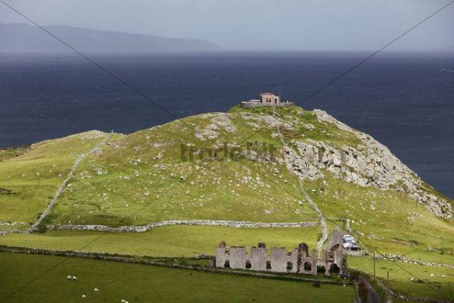 Torr Head with Scottish coast at back, County Antrim, Northern Ireland, United Kingdom, Europe, PublicGround