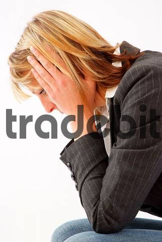 young woman with depressions