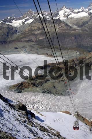 Cable car Zermatt - Trockener Steg - Klein Matterhorn, Zermatt, Valais, Switzerland