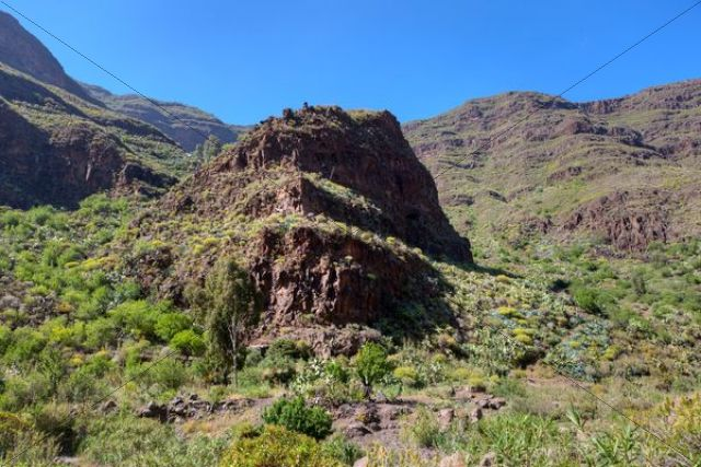 Mountains around Barranco de Guayadeque, Taidia region, Gran Canaria, Canary Islands, Spain, Europe