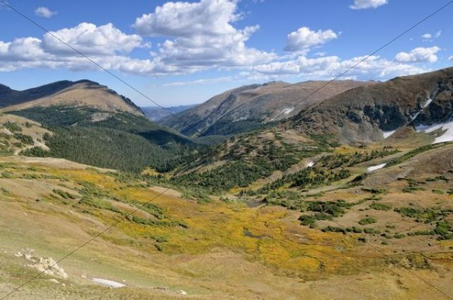 View from the Trail Ridge Road, Rocky Mountain National Park, Colorado, USA