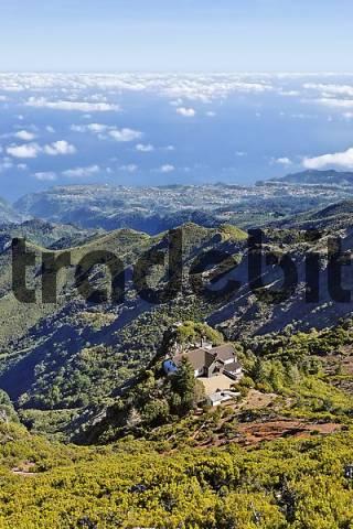 Casa do Abrigo is the only mountain hut on Madeira, Pico Ruivo, Madeira, Portugal