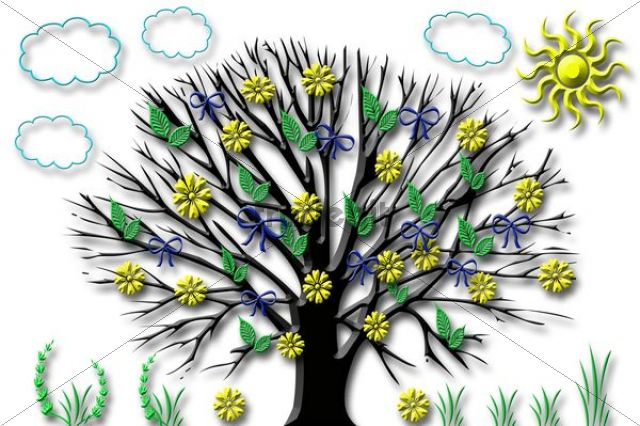 Summer tree, illustration