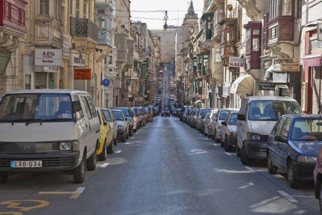 Street in Valletta, Malta, Europe