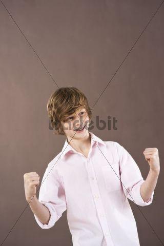Jubilant boy