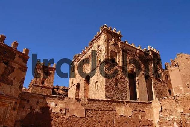 Crumbling Berber architecture Kasbah Telouet Morocco