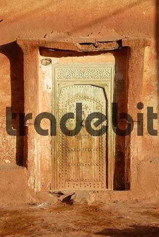 Door of an old house Bou-Thrarar High Atlas Morocco