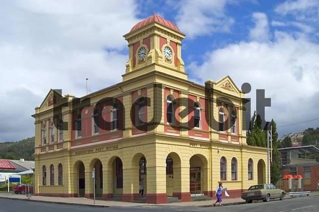 historic center of Queenstown Tasmania Australia