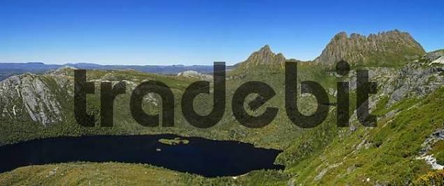 Crater Lake on Overland Track in Cradle Mountain NationalparkTasmania Australia