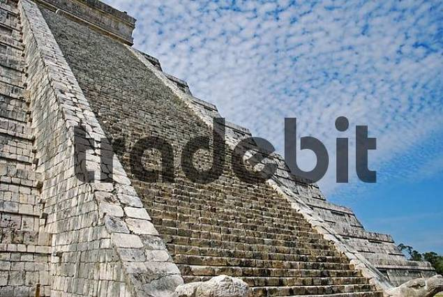 stairs of the pyramid of Kukulcan Chichen Itza Mexico
