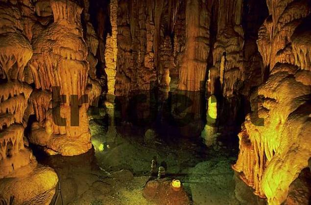 Grottes the Katerloch, Dripstone cave, cave with stalagmites and stalactites, Austria