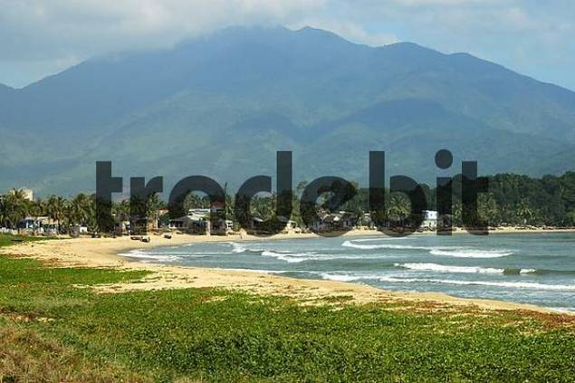 Countryside with Hai Van Pass in the background, Danang, Vietnam