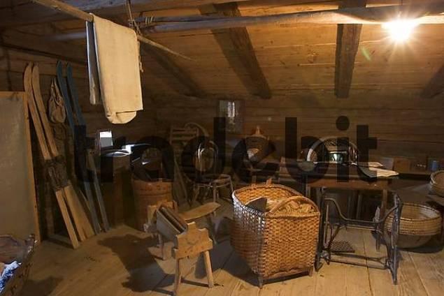 Lumber Room In Attic Museum Finsterau Bavarian Forest