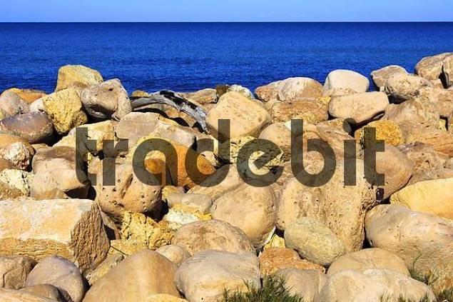 Mediterranaen sea, coast line of Libyen