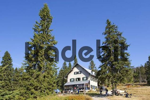 Waldschmidt-Haus mountain shelter in National Park Bavarian Forest Germany