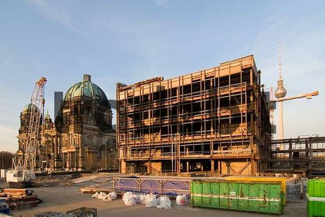 Tear down of the old parliament building of the GDR, Berlin, Germany
