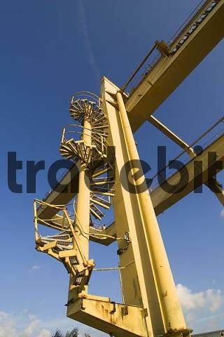 stairs at a crane