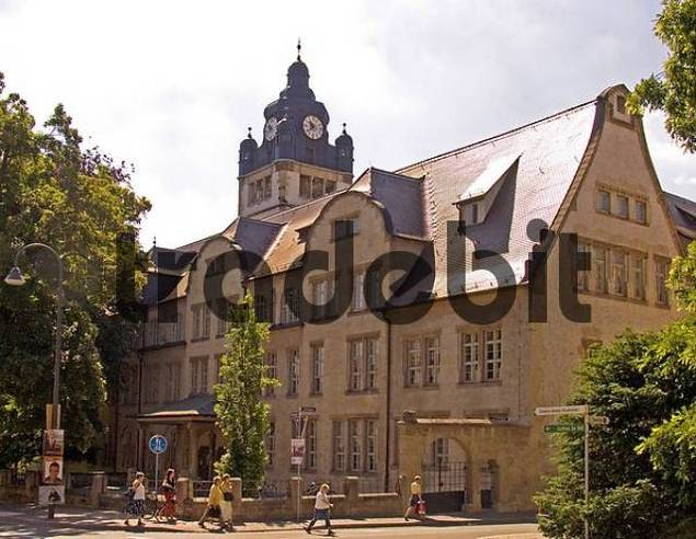 BRD Germany Thüringen Jena City of University Green City at the River Saale Founded in the 9 Century City Founded 1236 Founder Lords of Lobdeburg Market Place Region for Wine Growing Mainbuil