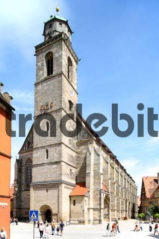 St. Georgs minster, Georgsmuenster, Dinkelsbuehl, Bavaria, Germany