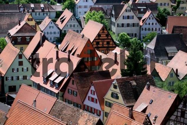 Old town of Dinkelsbuehl, Bavaria, Germany