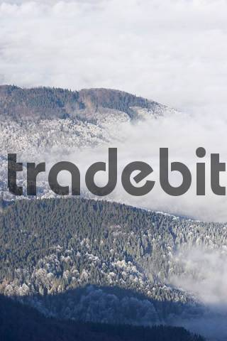 view from Herzogstand mountain Upper Bavaria Germany