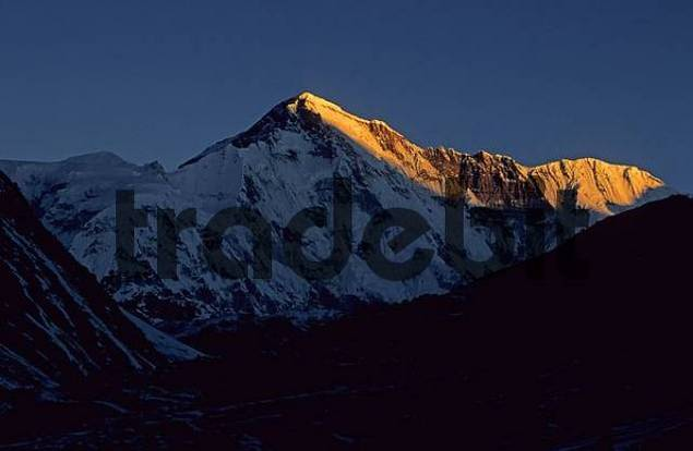 Sunrise over the south face of Cho Oyu Nepal