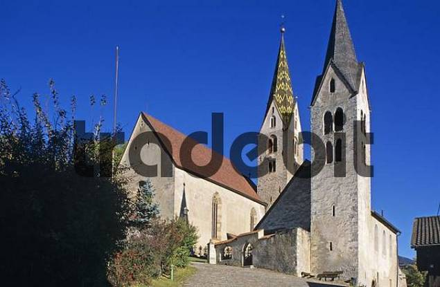 churches of Villanders left the parsonage church South Tirol Italy