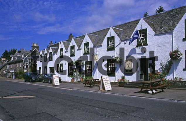 The Inn in Stratyre in Scotland Great Britain