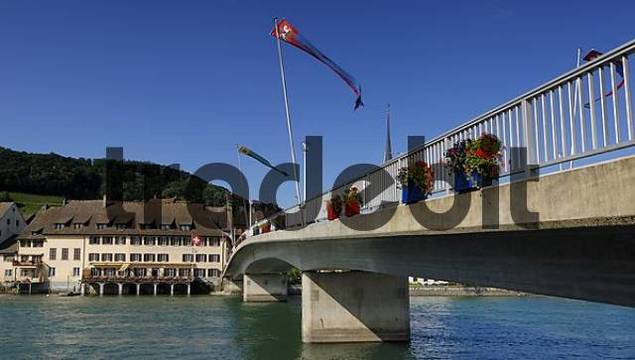 Bridge over the Rhine in Stein am Rhein - Kanton Schaffhausen, Switzerland, Europe.