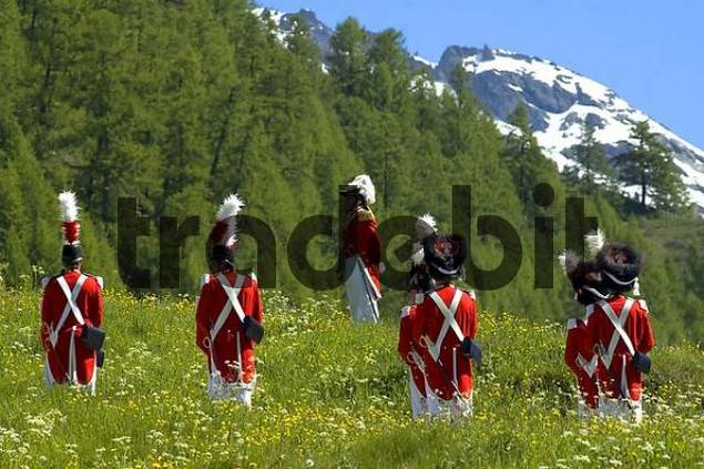 Corpus Christi procession Grenadiers of the Lord Wiler Valais Switzerland
