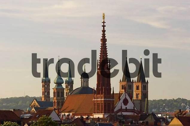 churches in Würzburg Franconia Bavaria Germany