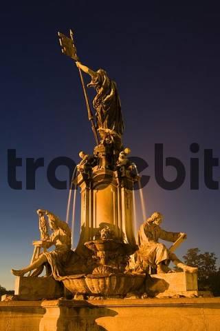 Würzburg Franconia fountain Bavaria Germany
