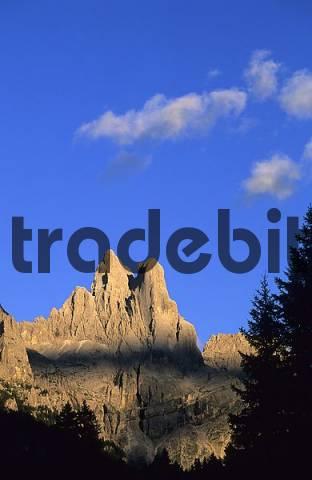 Sass Maor and Cima della Madonna Dolomites Italy
