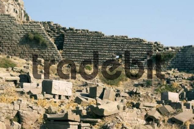 Turkey Assos near Behramkale northern Agean Sea lower town and necropolis