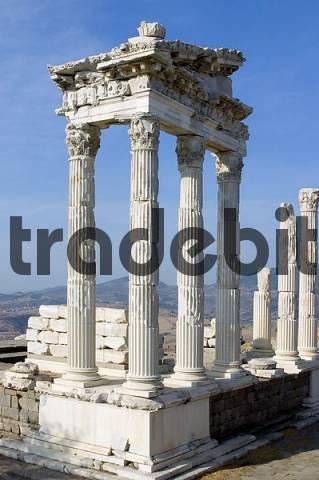 Turkey Pergamon Bergama temple of the emperor Trajan