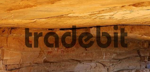 Place of discovery of prehistoric rock paintings in the Acacus Mountains, Libya
