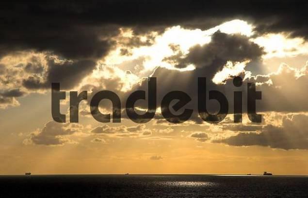 Sunset on the Fehmarnsund, Fehmarn, Germany