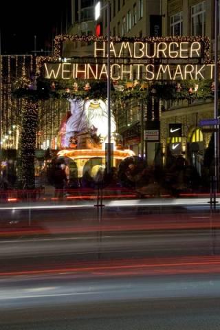 Christmas market, Spitaler street, Hamburg, Germany
