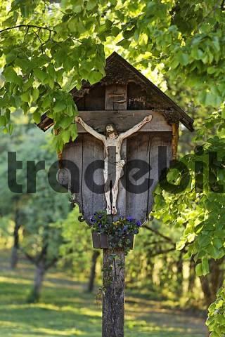 cross in Dietramszell, Upper Bavaria, Germany