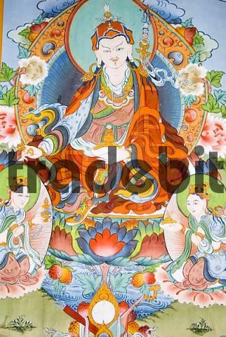 painted buddha in a buddhist temple of Kathmandu, Nepal