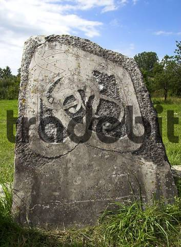 Picture Stone of the Viking Age near Tofta, Gotland, Sweden