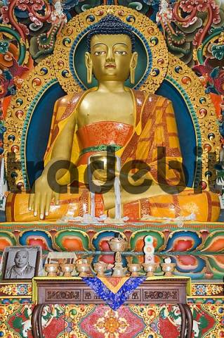 Buddha display at a buddhist temple, Kathmandu, Nepal