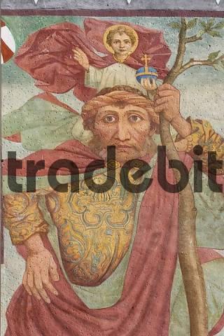 frescos Saint Christoph - church St Michael in Imst Tyrol Austria